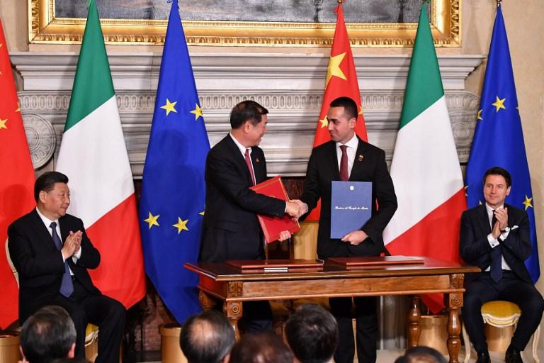 ITALY - CHINA - POLITICS - DIPLOMACY