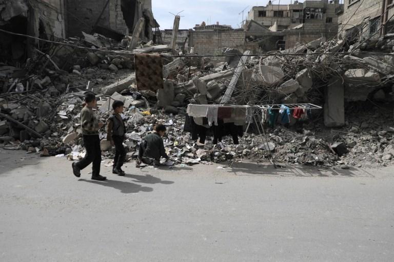 TOPSHOTS - SYRIA - CONFLICT - DOUMA