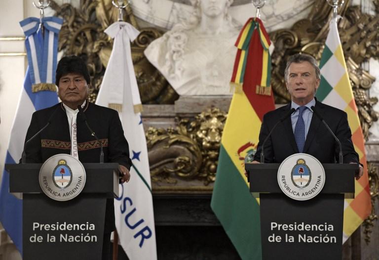 ARGENTINA - BOLIVIA - MACRI - MORALES