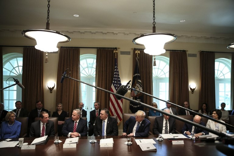President Trumps holds a Cabint Meeting